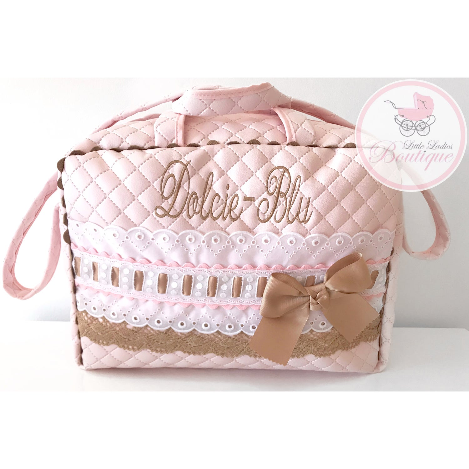 Image of Personalized baby bags.