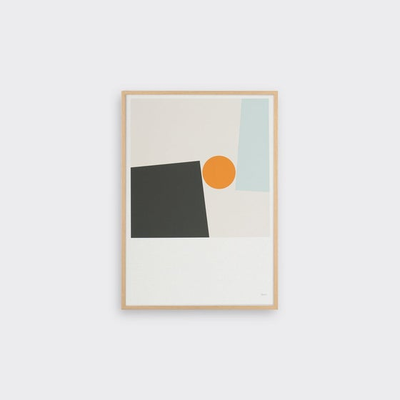 Image of Block & Ball print by Tom Pigeon