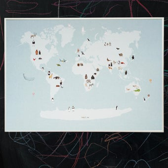 Image of Almost an Animal World Map