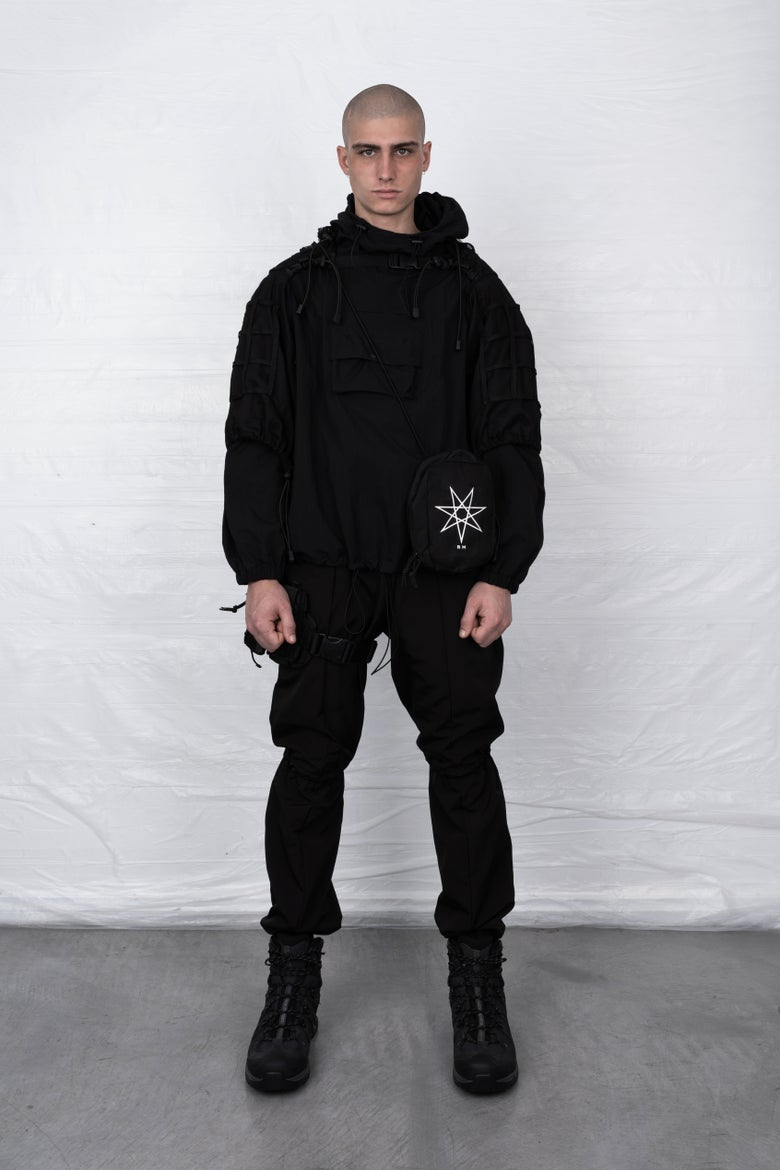 Image of BLACK TACTICAL WINDBREAKER