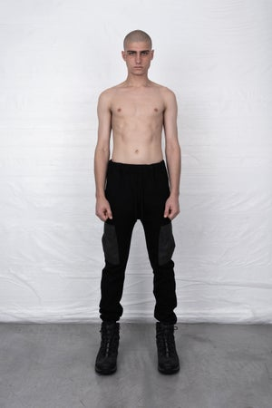 Image of BLACK CARGO SWEATPANTS