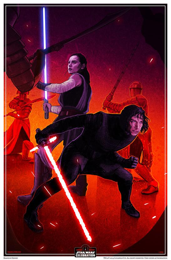 "Image of Maelstrom 11x17"" Star Wars Celebration Print"
