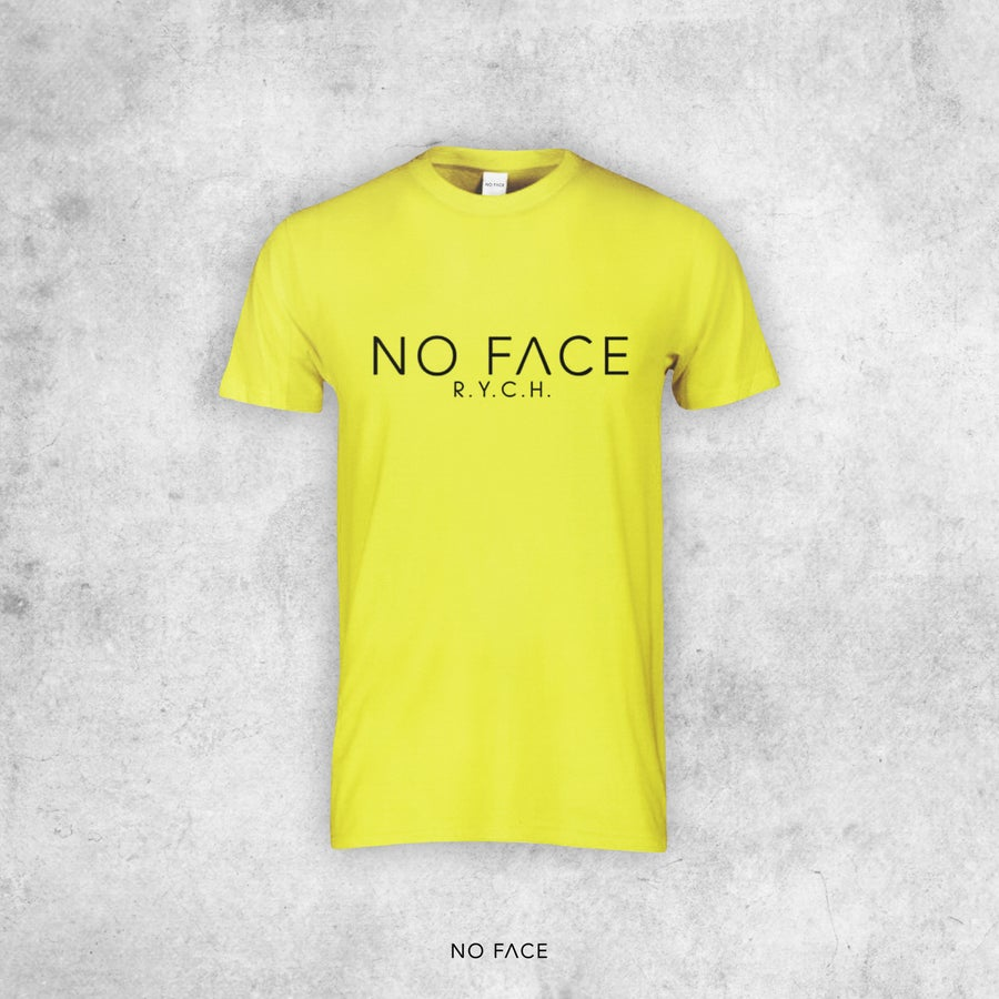 """Image of T-SHIRT """"NO FACE R.Y.C.H."""" FLUO"""