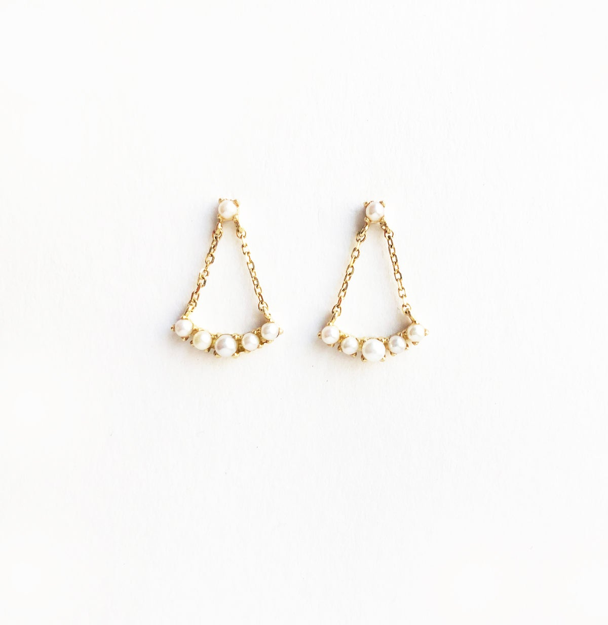 Image of Tiny Pearl Chandelier Earring