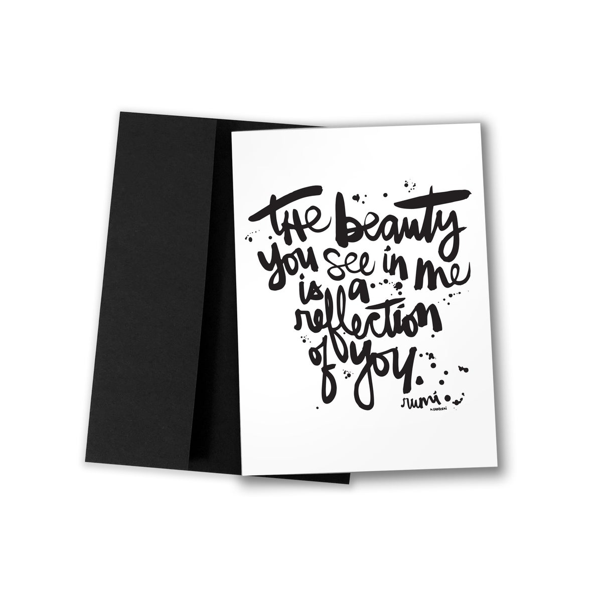 Image of THE BEAUTY #kbscript greeting card