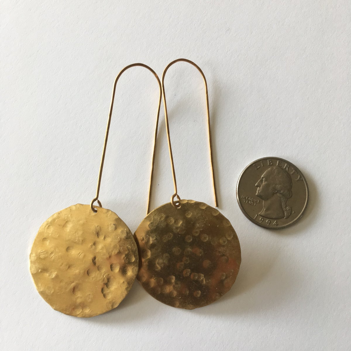 Image of Hammered Full Moon Earrings