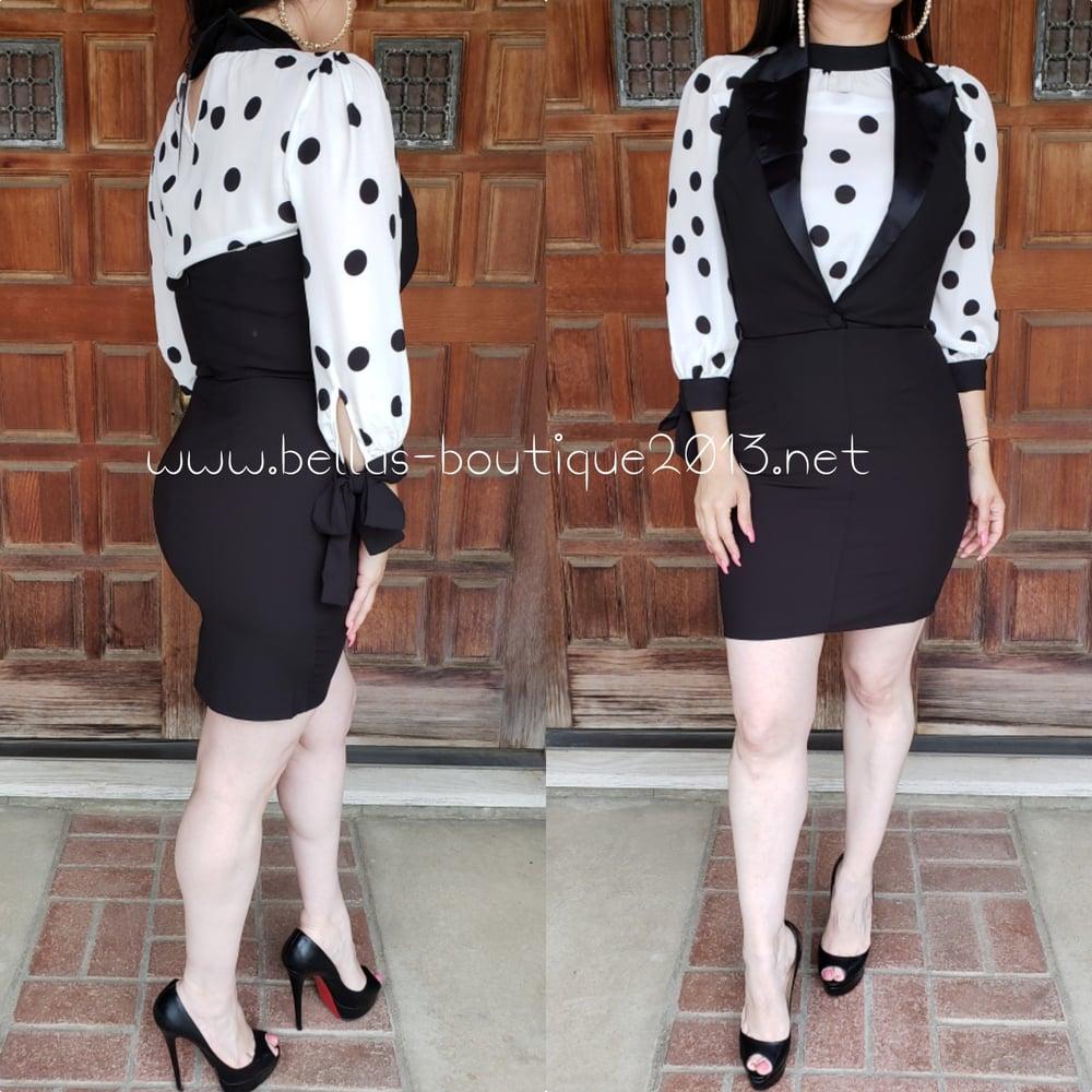 Image of Tuxedo Dress