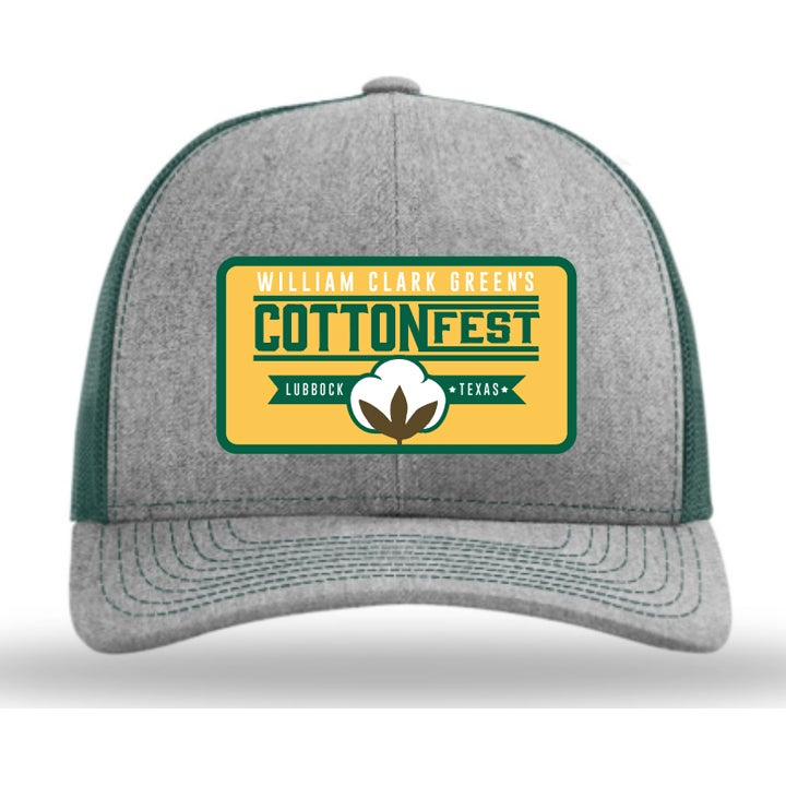 Image of Cotton Fest Gray Green Hat