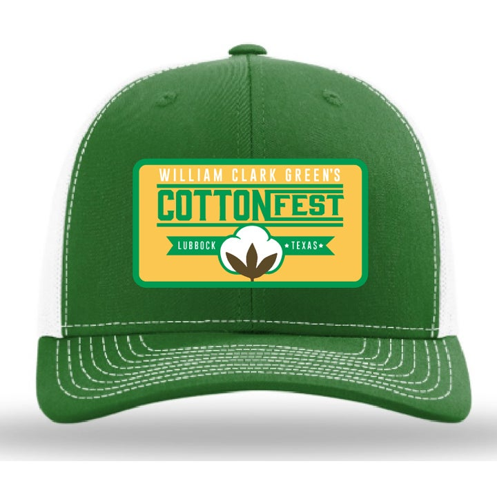 Image of Cotton Fest Green White Hat