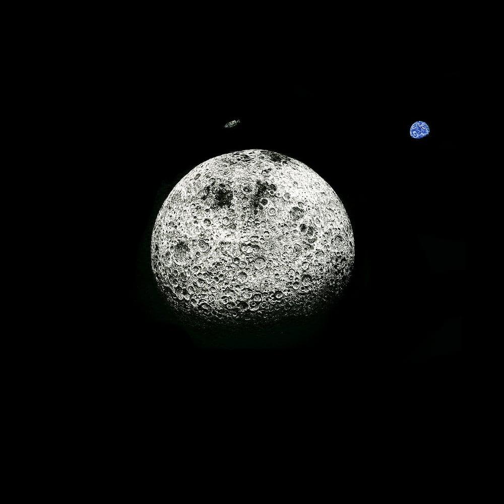 Image of Moon 'Orbit IV' - Original Drawing