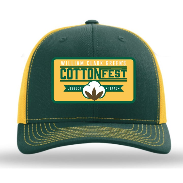Image of Cotton Fest Green Yellow Hat