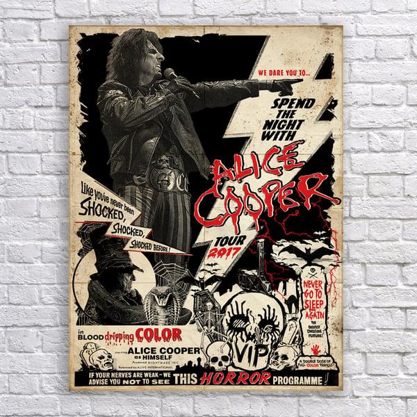 Image of Alice Cooper 2017 VIP poster