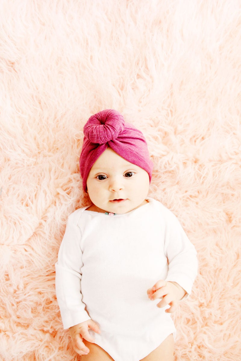 Image of Baby Top Knot Turban Style Headwrap Pattern
