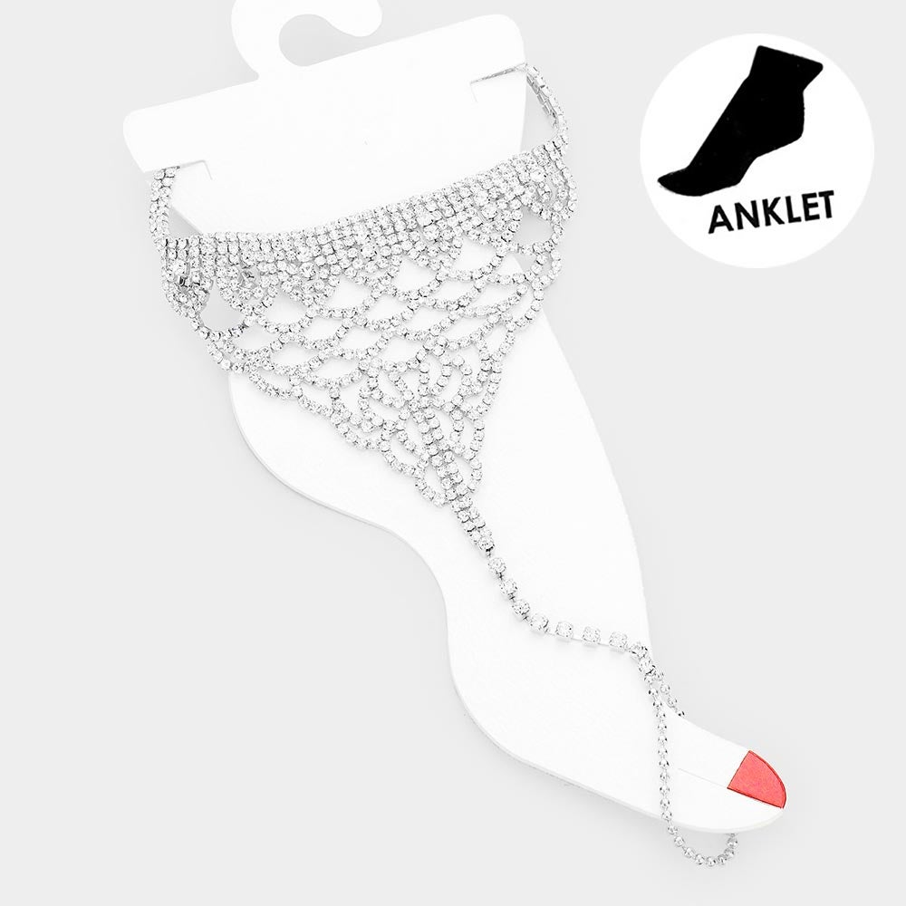 Image of Crystal Pave' Anklet