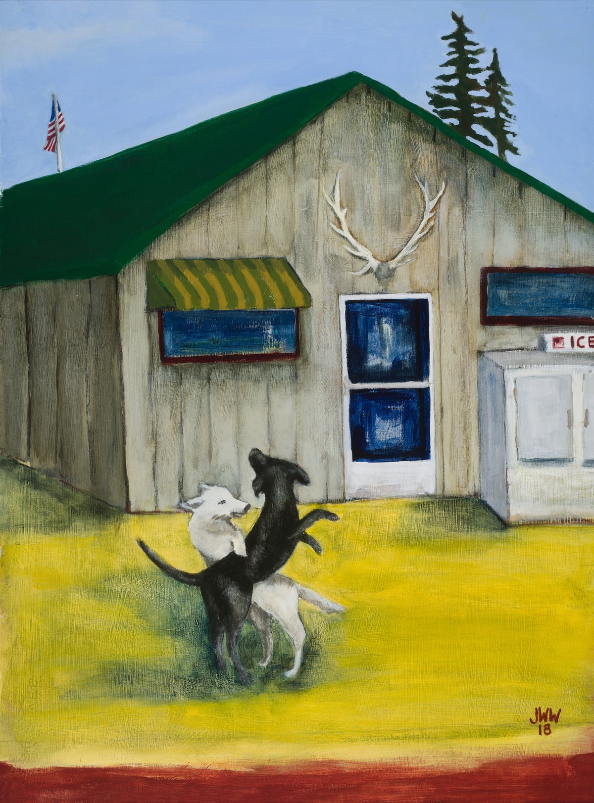 """Image of """"Country Dogs"""" Framed Limited Edition Print"""