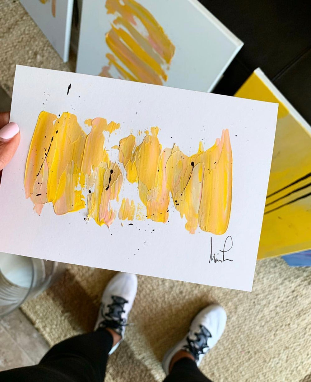 """Image of """"Fun in the Sun"""" 5x7 Hand Painted Note Cards"""
