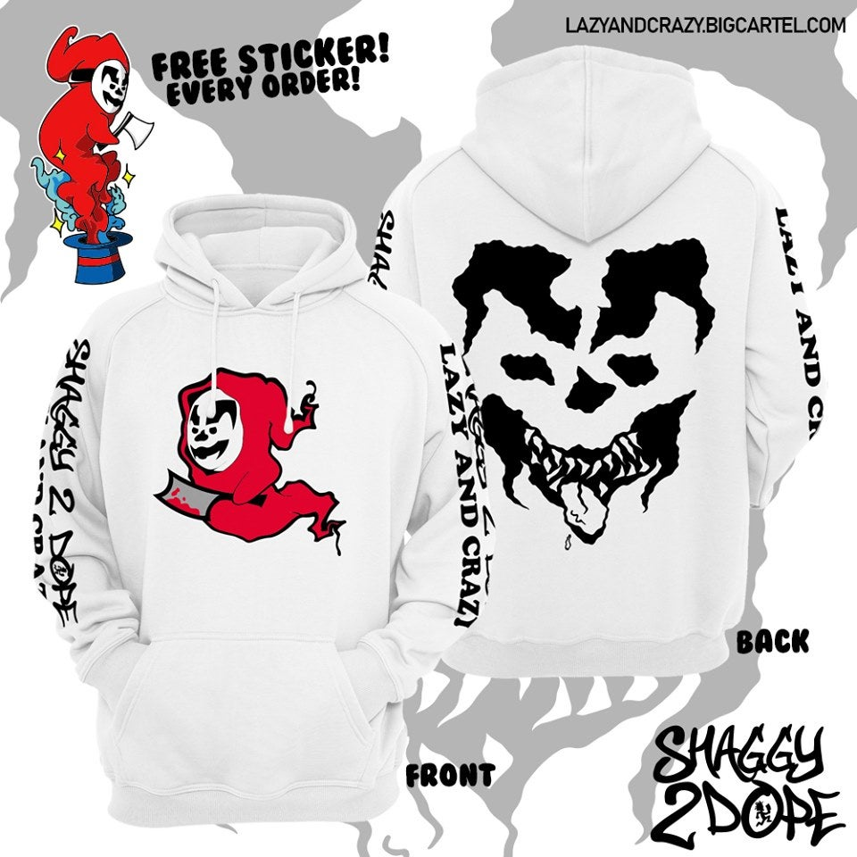 Image of SHAGGY2DOPE HOODIE (WHITE OR BLACK)