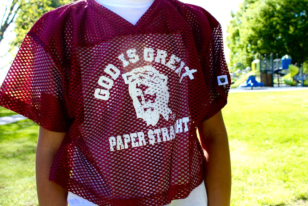 Image of GOD IS GREAT PAPER STRAIGHT PRACTICE MAKES PERFECT JERSEY (Multiple Color Options)