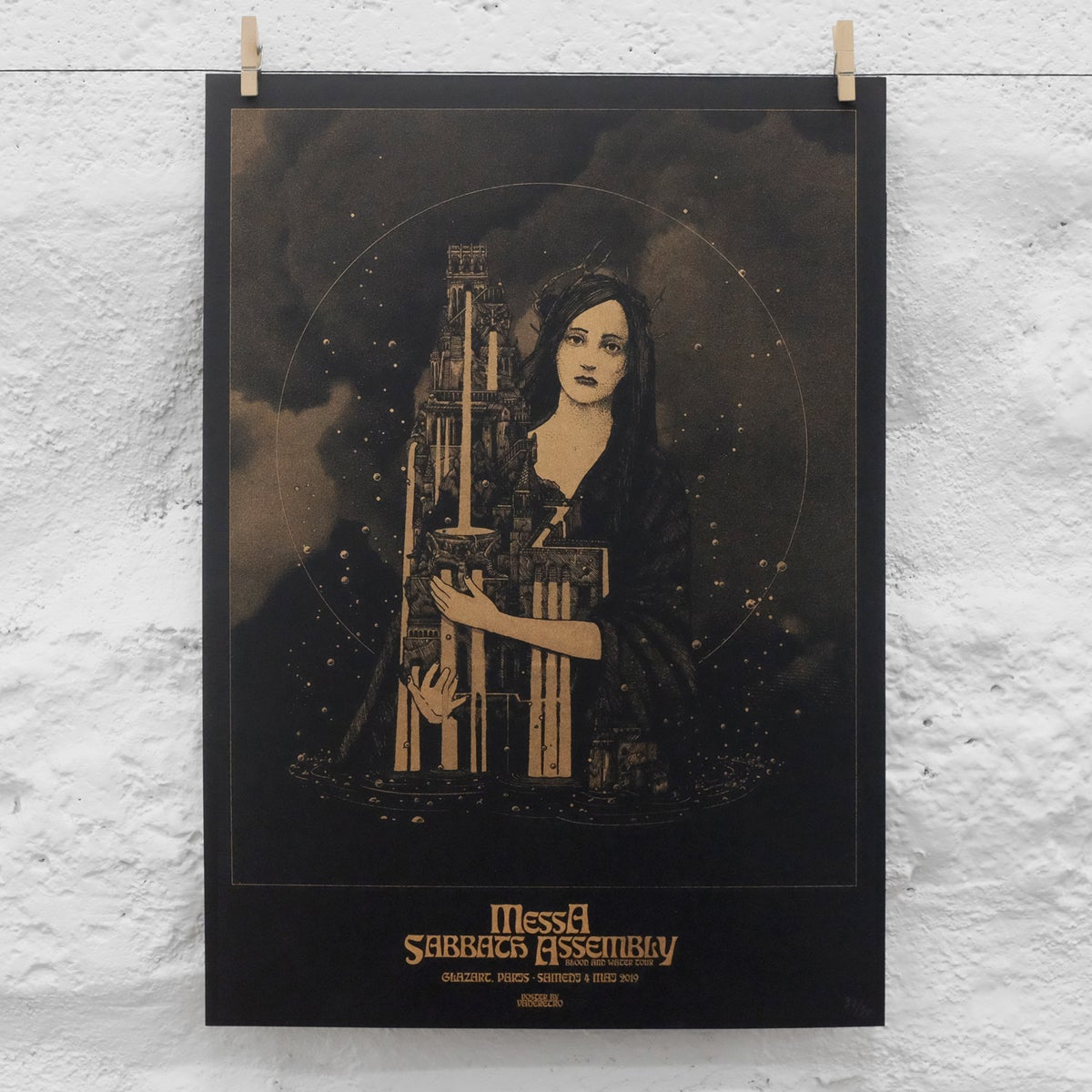Image of MESSA & SABBATH ASSEMBLY RISOGRAPH POSTER (Paris 2018)
