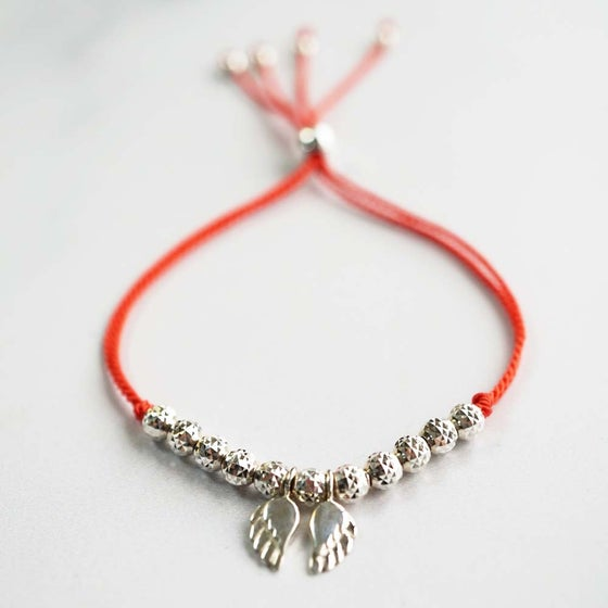 Image of NEW: Angel Wing WISH BRACELET - Coral Silk