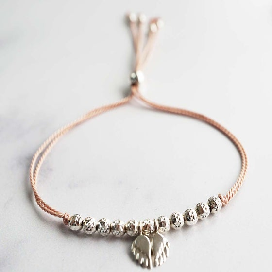 Image of NEW: Angel Wing WISH BRACELET - Pastel Pink Blush