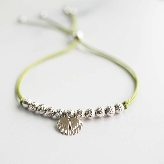 Image of NEW: Angel Wing WISH BRACELET - Green