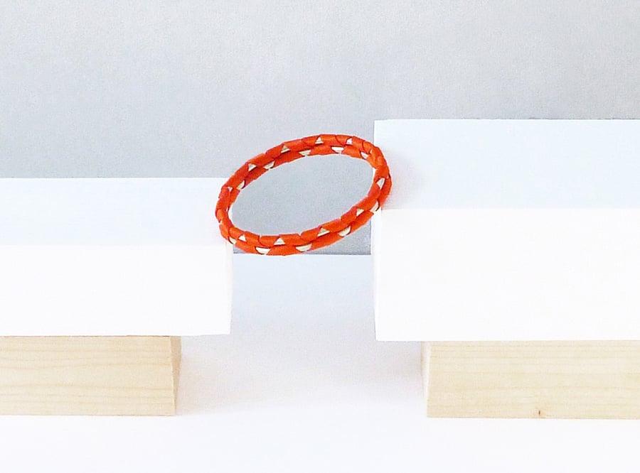 Image of Madake double bracelet #1151, color 10B or 3S (carbon/bronze or garnet/silver)