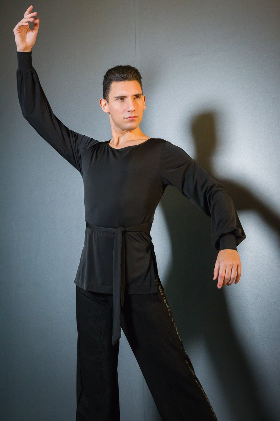 Image of Latin Shirt w/Tie (E8192) Dancewear latin ballroom