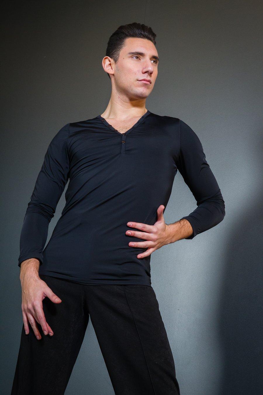 Image of Long Sleeve Top (E1296/E8135) Dancewear latin ballroom