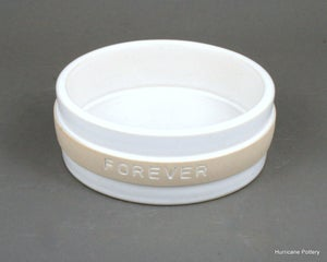 Image of Ceramic Wine Bottle Coaster with Personalized Band for Commemorative Gift