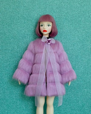 Image of LoungingLinda Panelled Faux Fur ~ Lilac
