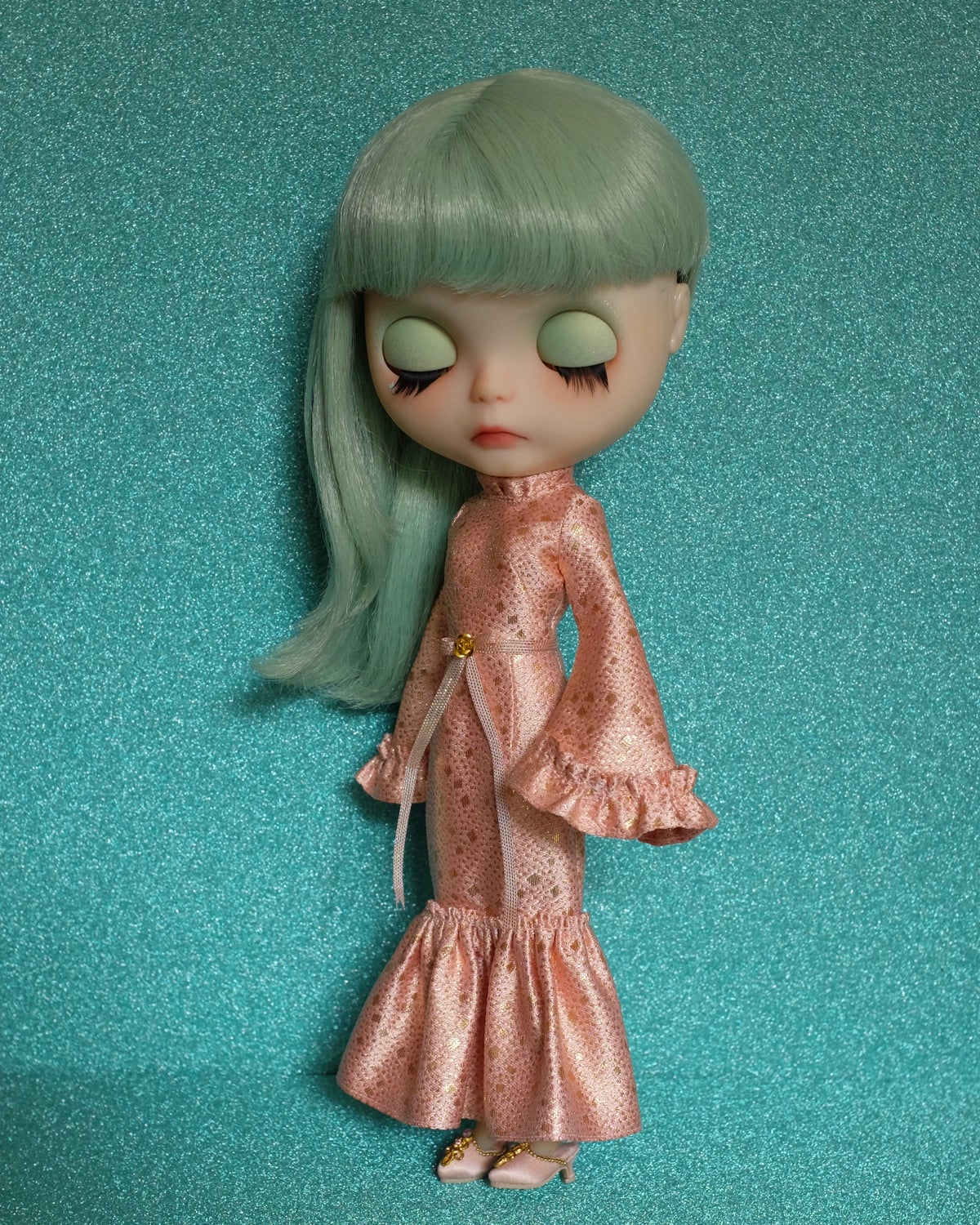 Image of LoungingLinda Susie Dress ~ Rose Gold