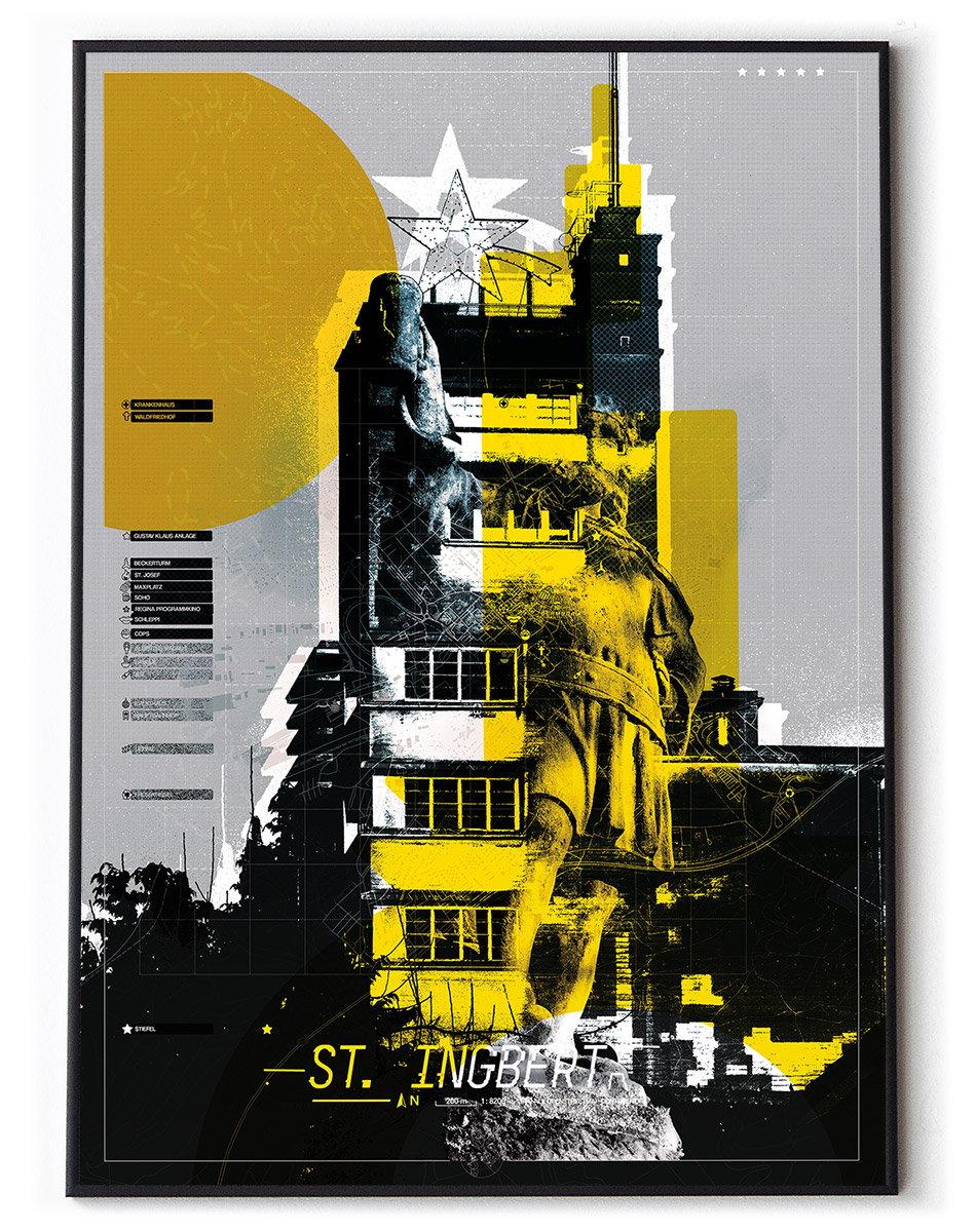 Image of St. Ingbert Beckersturm Din A1 Collage