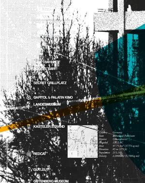 Image of Mainzmap Mainz Amöneburg Plakat