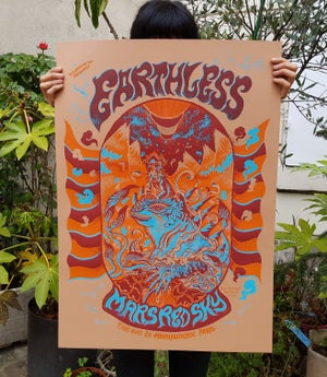 Image of EARTHLESS et MARS RED SKY (gigposter 2019)