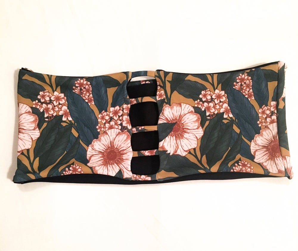 Image of 5 BAND BANDEAU : GOLDEN GARDEN X BLACK