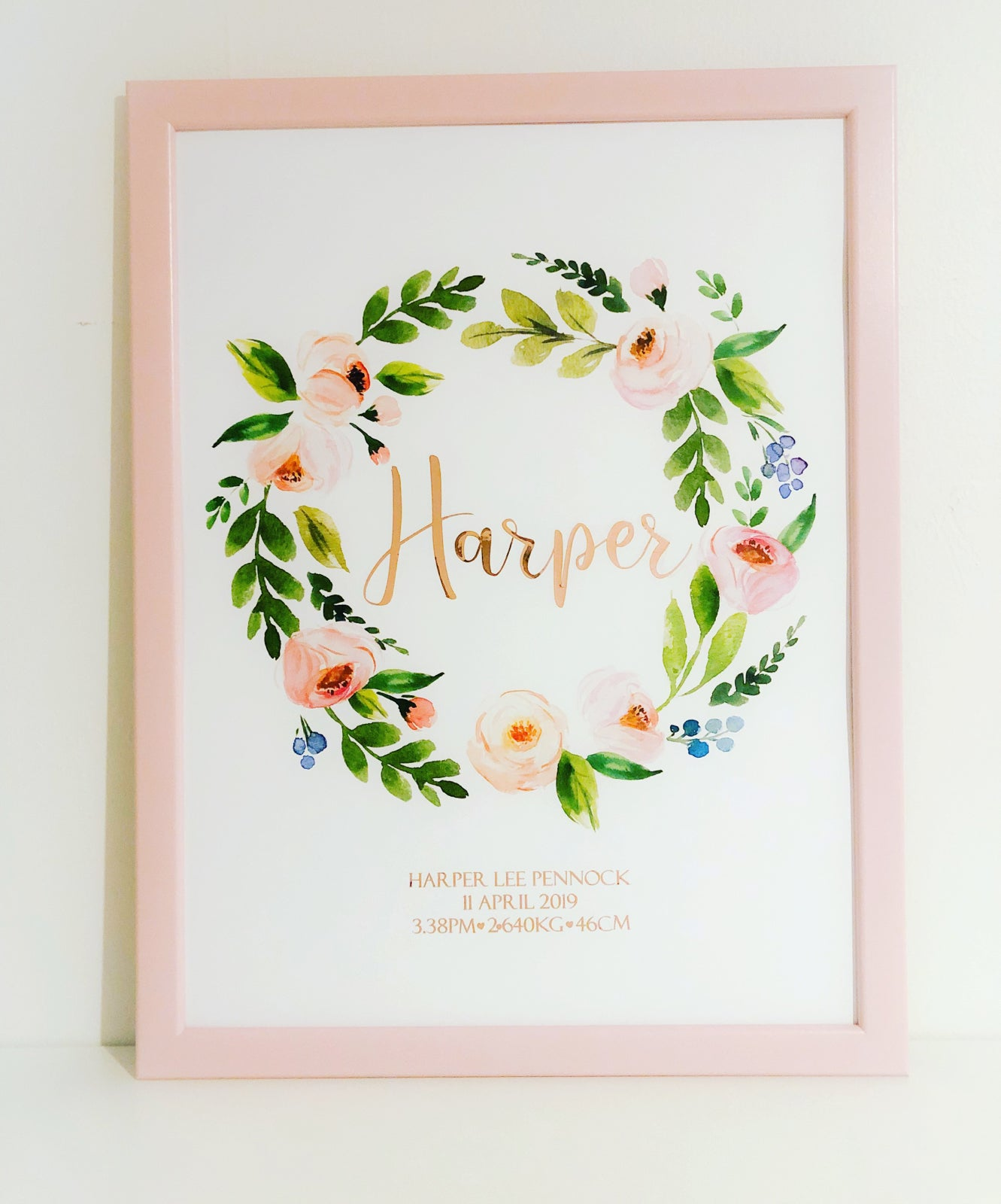 Image of A3 Personalised Foil Print