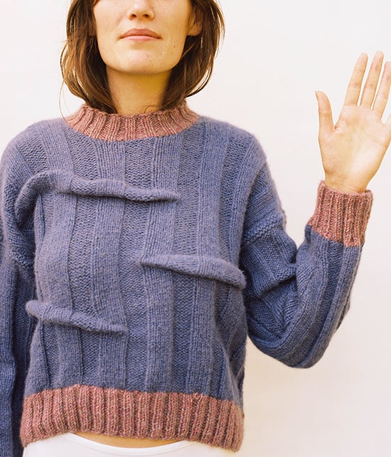 Image of Purple Wonky Cashmere Jumper