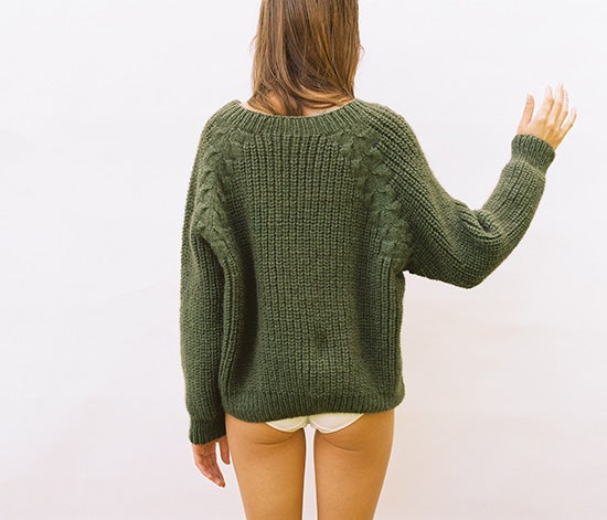 Image of Wiggly Cable Raglan Jumper
