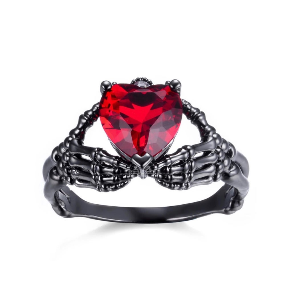 Image of Amore Eterno skeleton heart ring