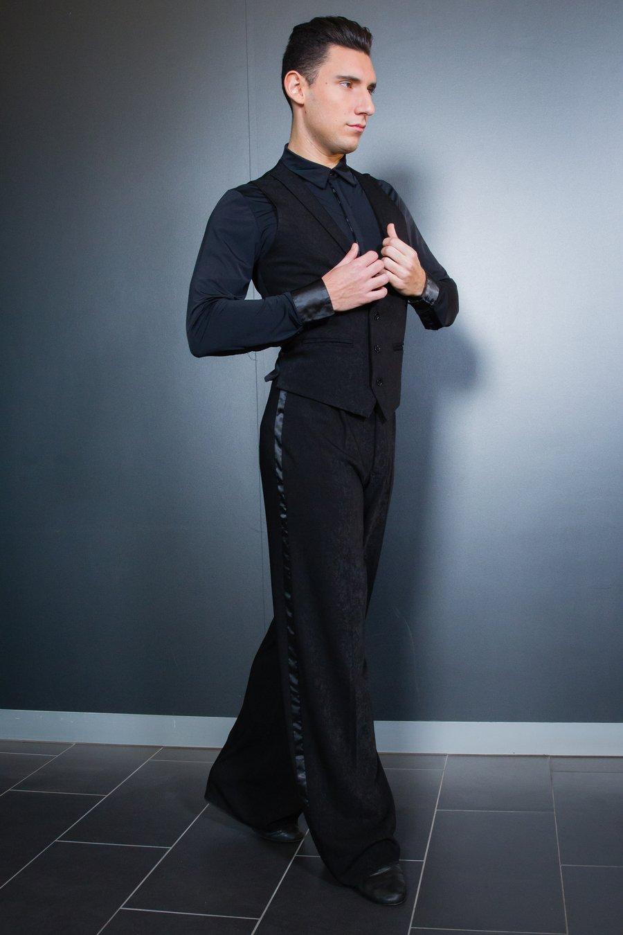 Image of Ballroom Pants w/Satin (B12019) Dancewear latin ballroom