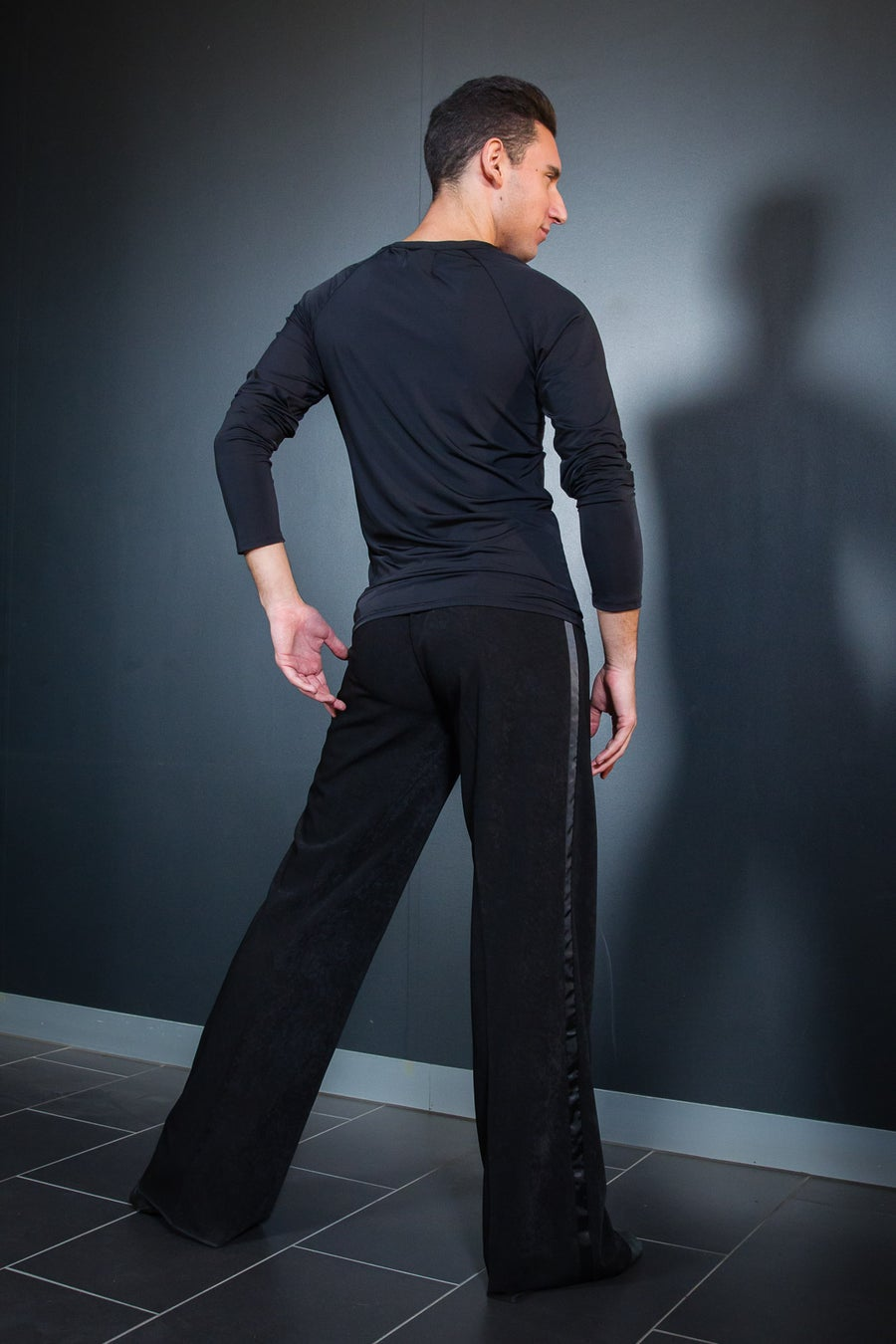 Image of Mens Latin Pants w/Satin (B12020) Dancewear latin ballroom