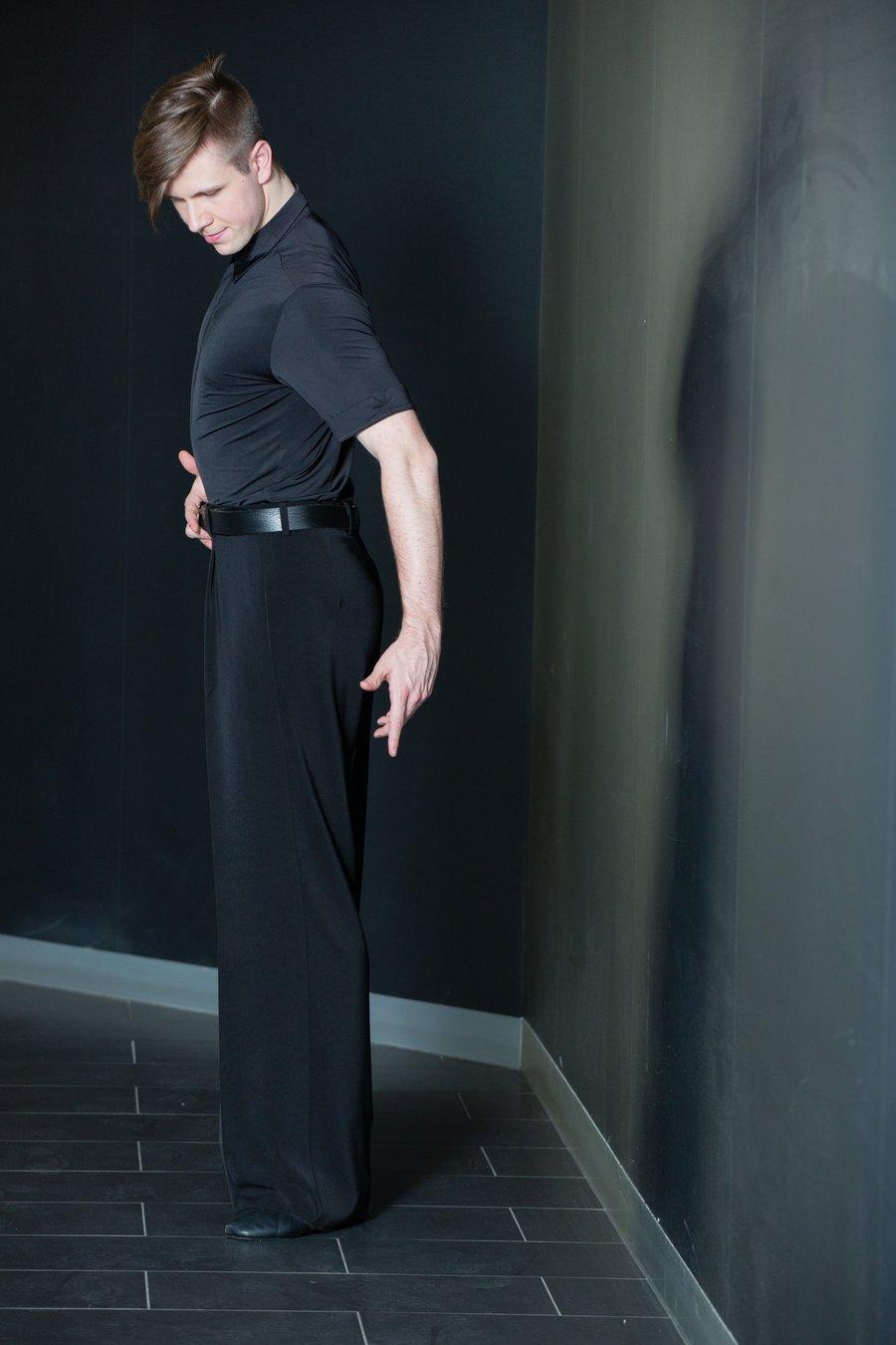 Image of B3551C Mens Single Pleat Pants SALE Dancewear latin ballroom