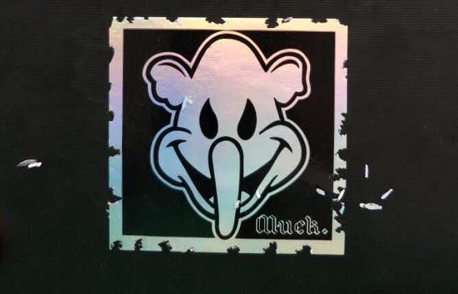 Image of Custom Design Black Printing Hologram Destructible Eggshell Stickers