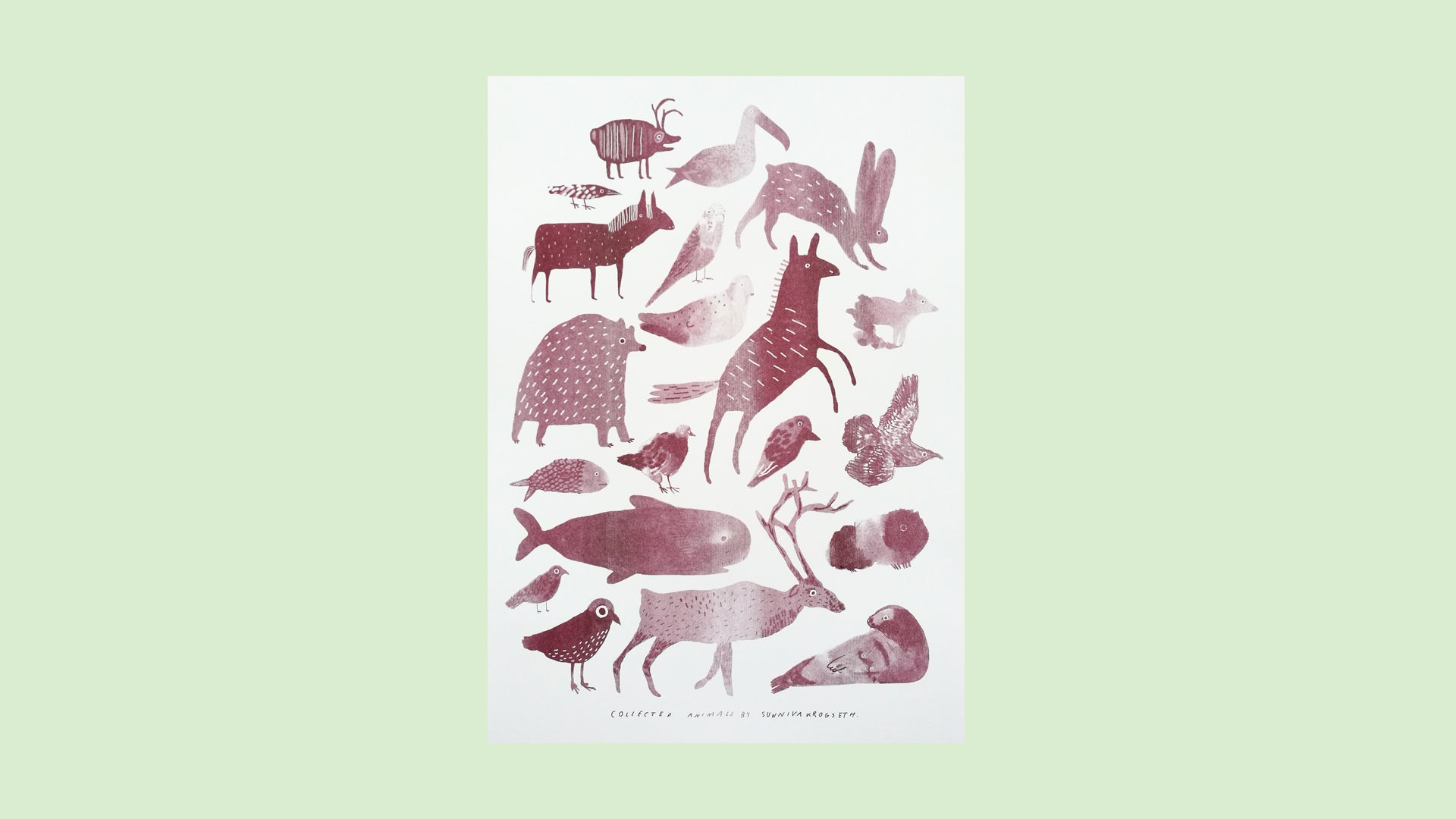 Image of Collected Animals 2019 Burgundy