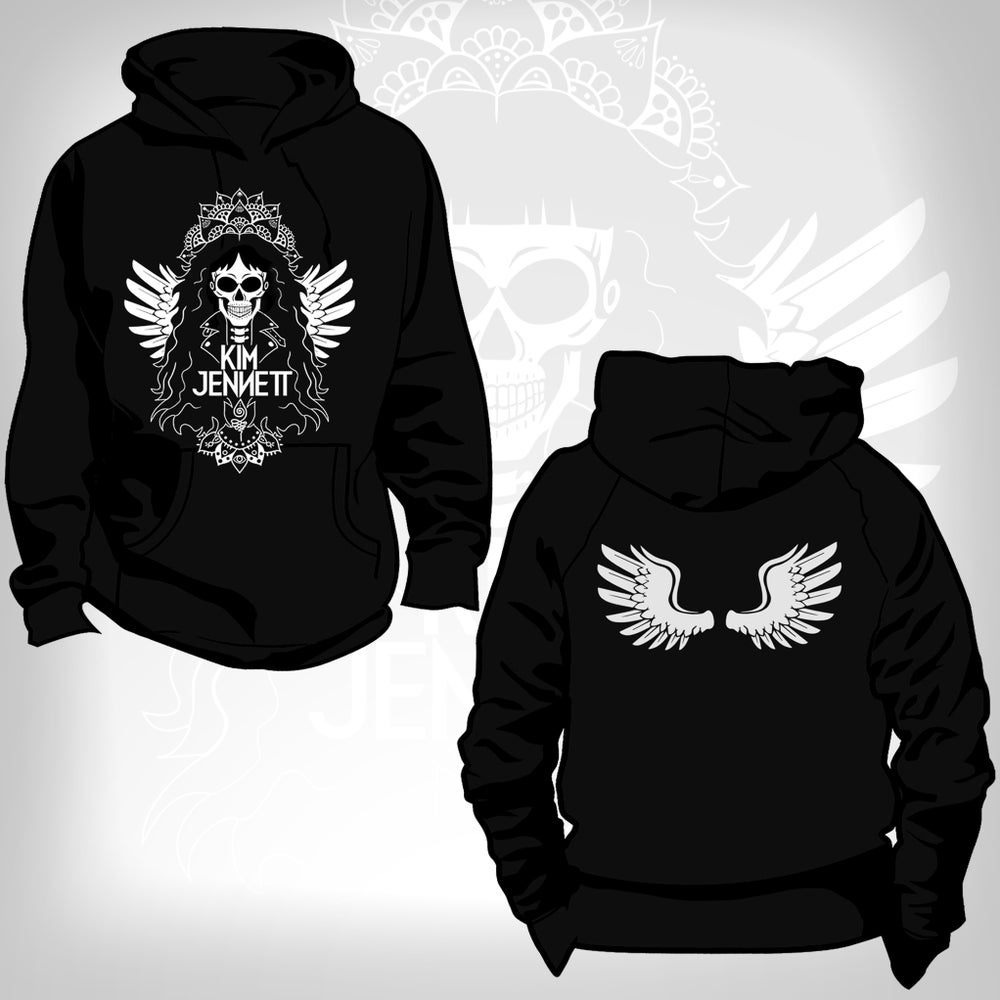 Image of Kim Jennett - Official Wing Skull Hoodie