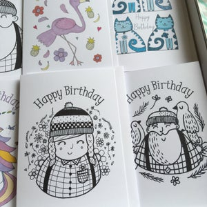 Image of Assorted Birthday Cards (8)