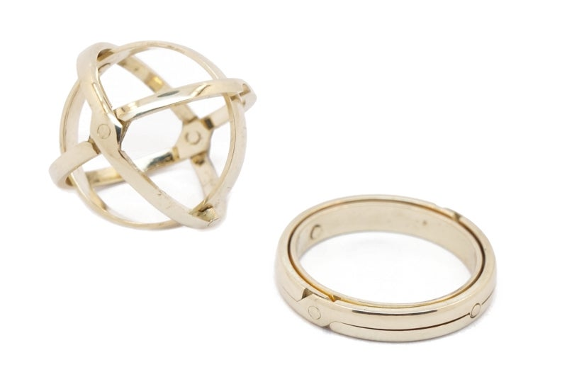 Image of 3 Band Armillary Sphere Ring