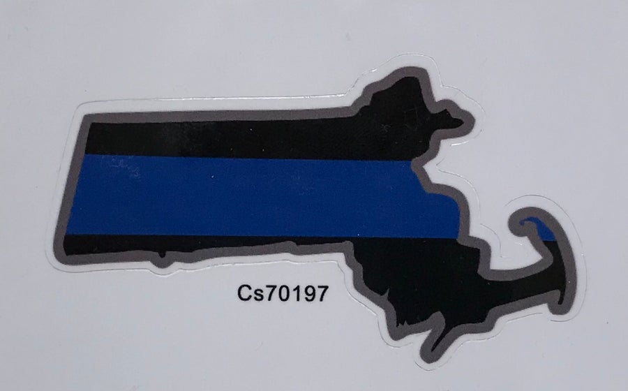Image of MA Thin Blue Line Sticker