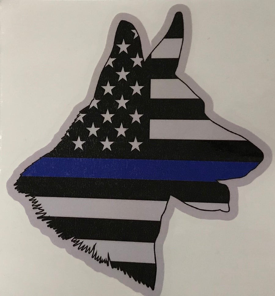 Image of K9 Thin Blue Line Decal